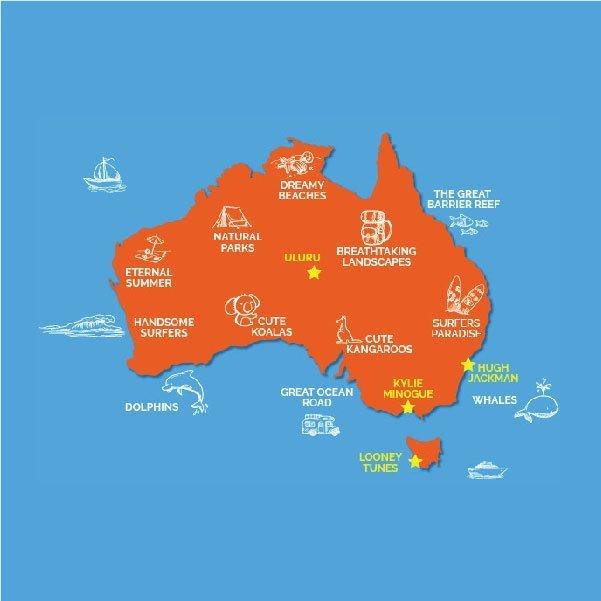 Map Of Australian Landscapes.10 Maps Of Australia