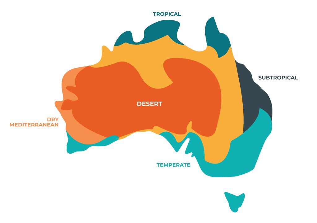 Australia Map With Cities And Towns.Australian Climate Zones Go Study Australia